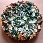 pizza espinaca mozzarella