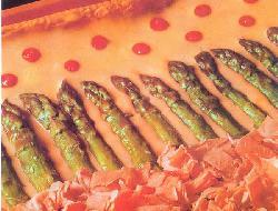 Tarta de espárragos y jamón