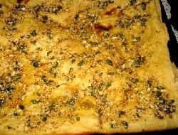Deliciosa especialidad de ajo con semillas de sésamo tostadas