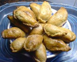 Empanadas de pollo y panceta