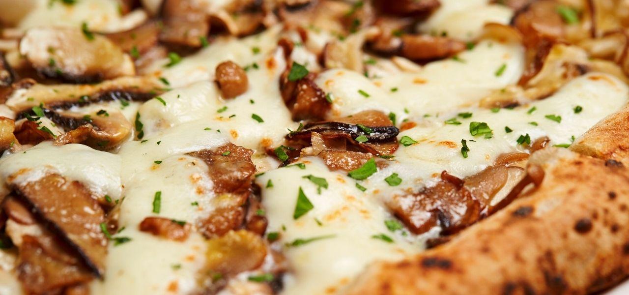 pizza champiñones