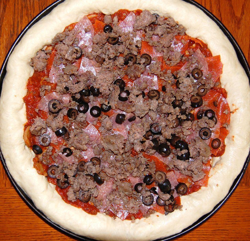 pizzapizza con carne picada chocclo