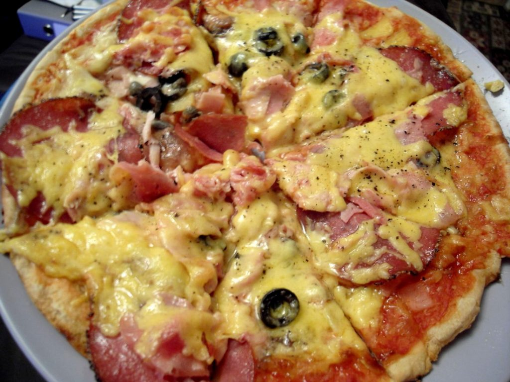 pizza agridulce jamon queso