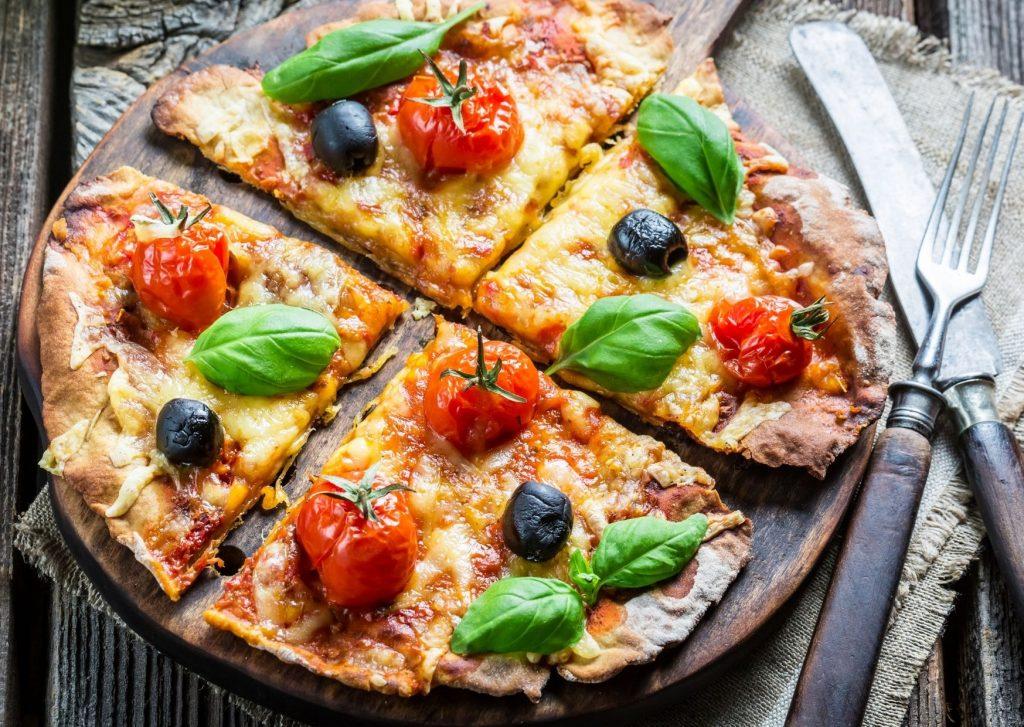 Masa básica de pizza sin levadura