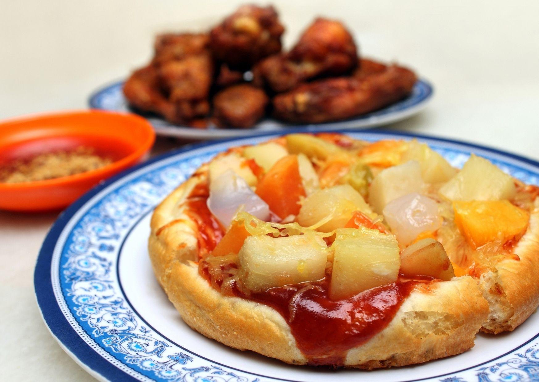 Pizza agridulce de melón y jamón