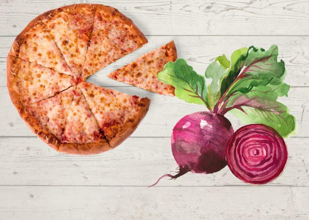 Masa básica de remolacha para pizza