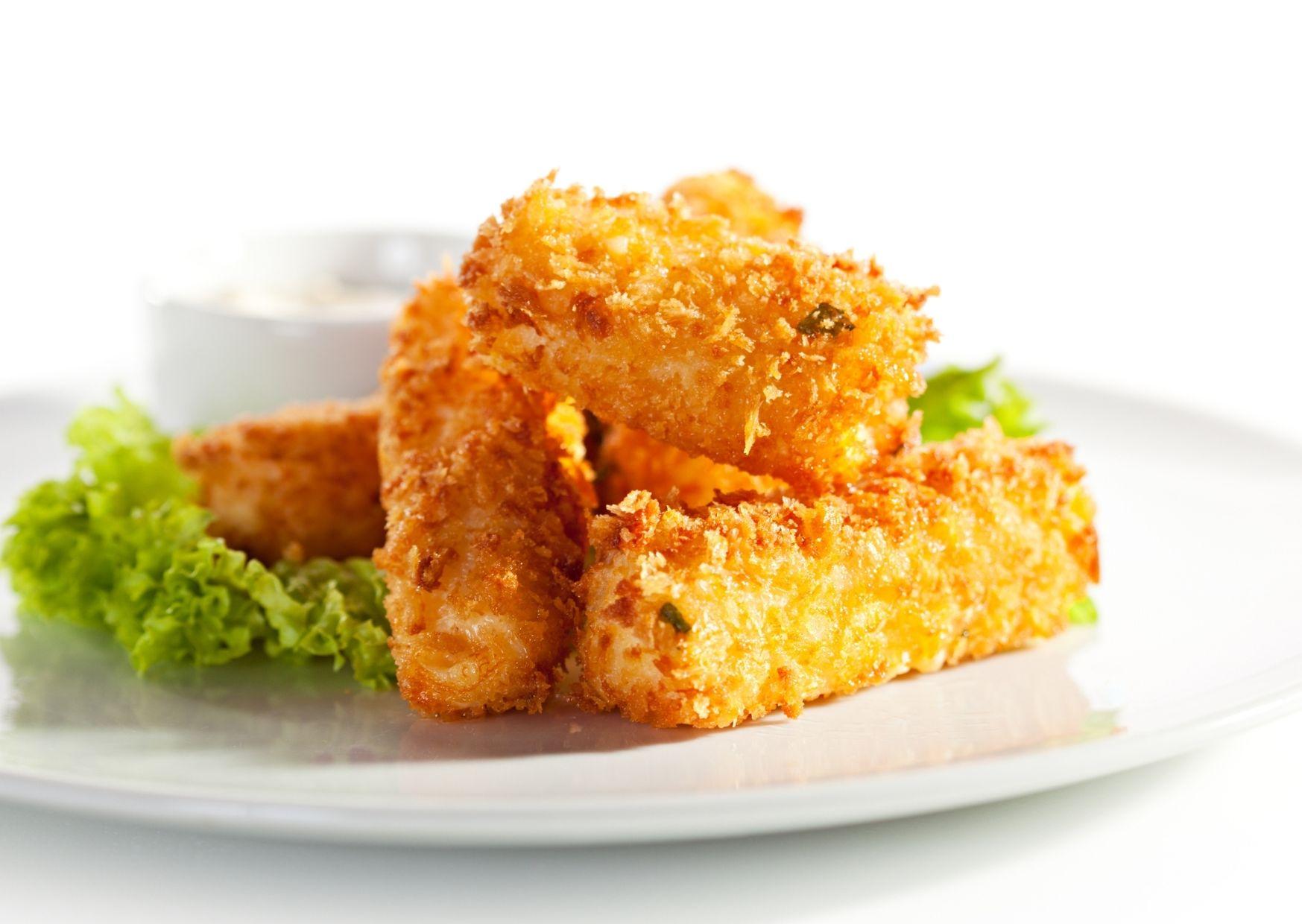 Miniaturas de queso fritas para copetín