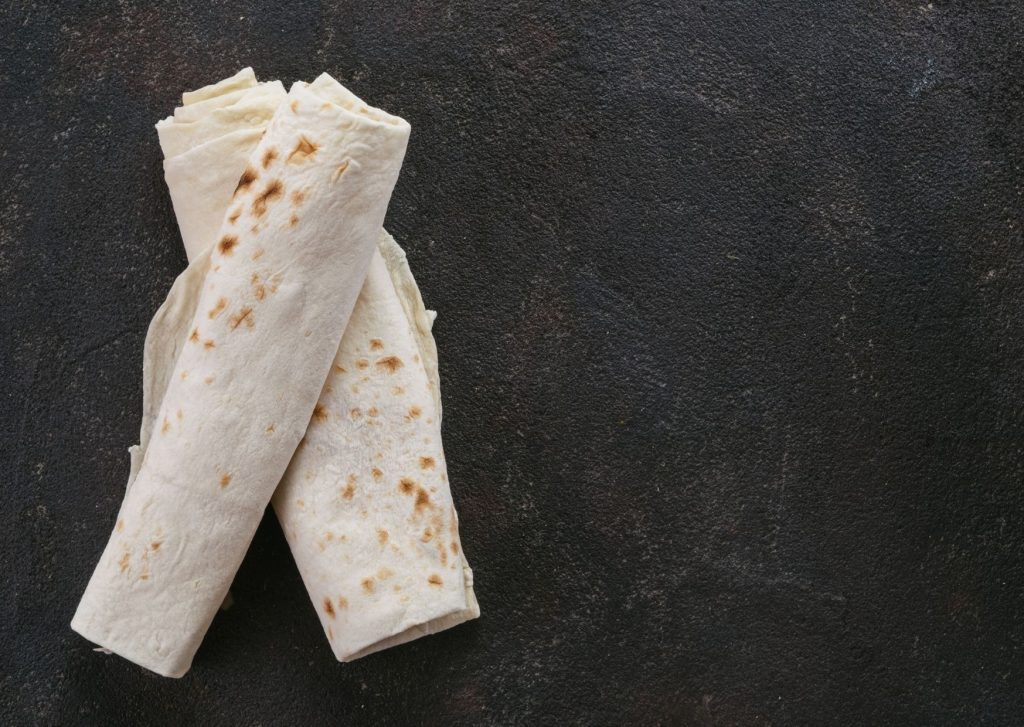 Piadina con crema de espinaca y ricotta