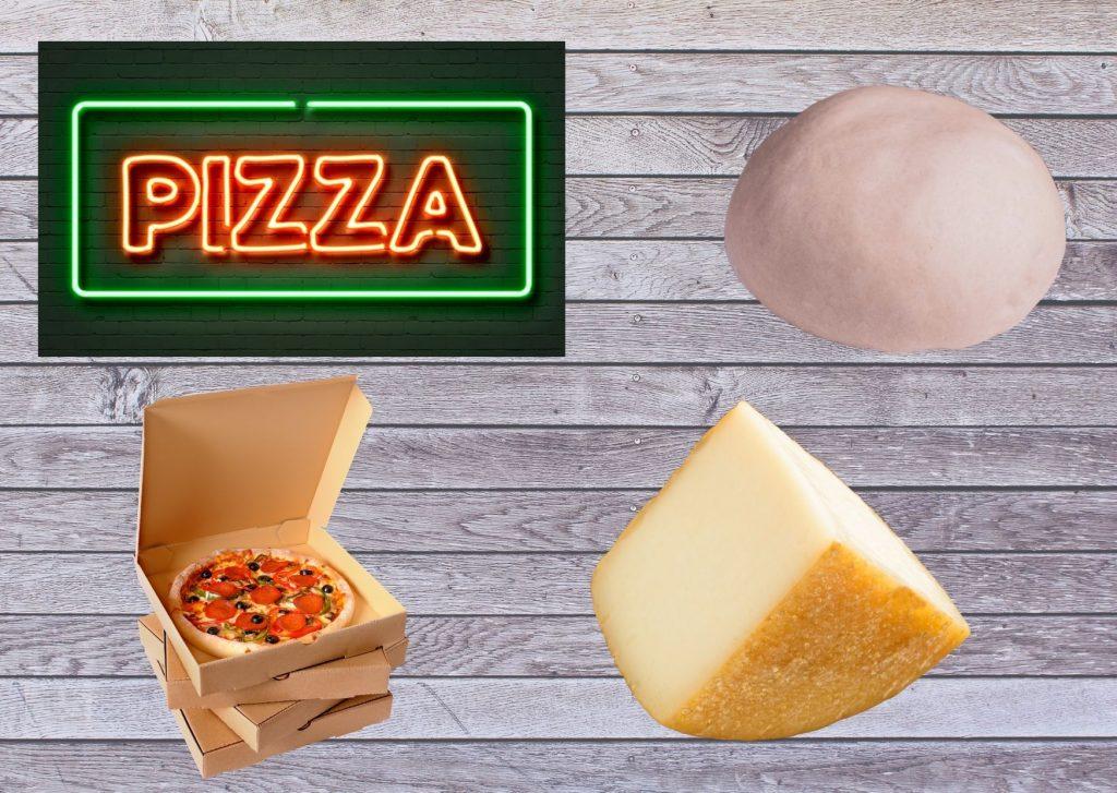 Masa básica de pizza con queso sardo